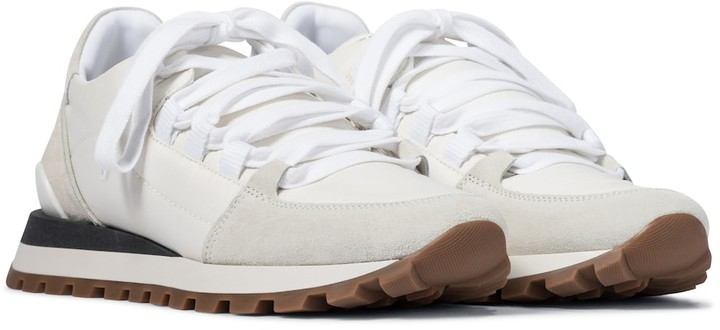 Brunello Cucinelli Embellished leather sneakers