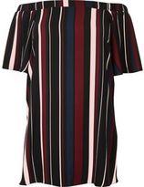 River Island Womens RI Plus red stripe bardot swing dress