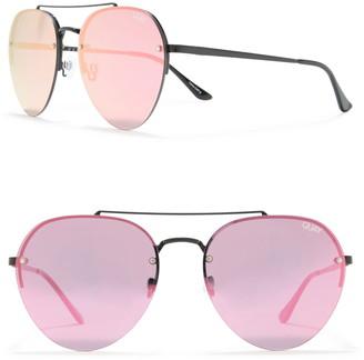 Quay Somerset 60mm Aviator Sunglasses