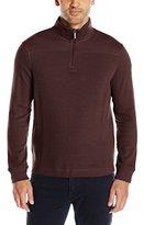 Perry Ellis Men's Quilted Textured Quarter Zip Vest