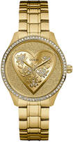 GUESS Women's Gold-Tone Stainless Steel Bracelet Watch 37mm U0910L2