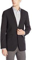 Perry Ellis Men's Slim Fit Tonal Mini Check Suit Jacket