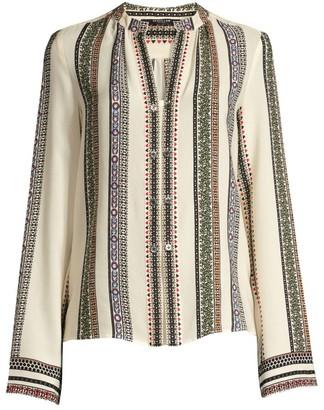 Derek Lam Kara Printed Silk Blouse