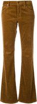 Ralph Lauren ribbed straight trousers - women - Cotton/Spandex/Elastane - 26