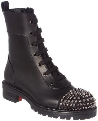 Christian Louboutin Ts Croc Leather Combat Boot