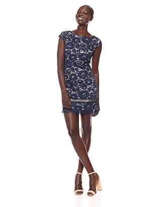 Vince Camuto Women's Lace Short Sleeve Shift Dress