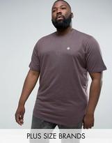 Le Breve Plus Logline Curved Hem Marl T-shirt