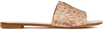 Giuseppe Zanotti Roll 10 Snake-effect Leather Slides