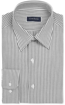 Club Room Men's Classic/Regular-Fit Stripe Dress Shirt, Created for Macy's