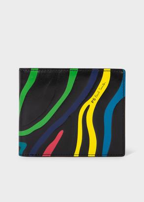 Paul Smith Men's Black Embossed 'Zebra' Print Leather Billfold Wallet
