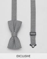 Reclaimed Vintage Inspired Bow Tie In Houndstooth