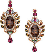 LeVian 14K Strawberry Gold Smoky Quartz and Multistone Earrings