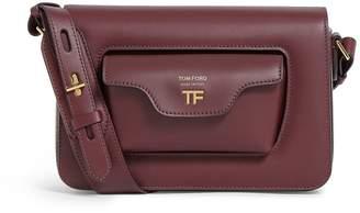 Tom Ford Leather Hollywood T Twist Shoulder Bag