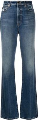 KHAITE Straight-Leg High-Rise Jeans