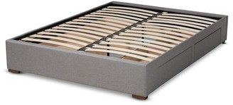 White Noise Elamin Modern and Contemporary Fabric Upholstered 4-Drawer Platform Storage Bed Frame Size: King, Color: Light Gray