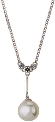 Majorica Short Chain Pearly Pendant Necklace