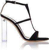 Gianvito Rossi Women's Lucite®-Heel Peggy Sandals-BLACK
