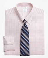 Brooks Brothers Regent Fitted Dress Shirt, Non-Iron Micro-Tattersall