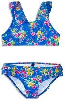 Ralph Lauren Girls' Floral Two Piece Swimsuit - Little Kid