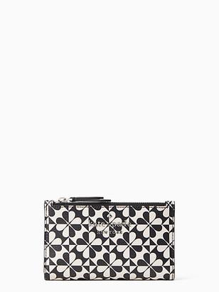 Kate Spade Hollie Spade Clover Geo Small Slim Bifold Wallet