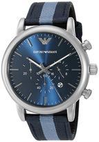 Giorgio Armani Emporio Luigi AR1949 Men's Gunmetal Stainless Steel Chronograph Watch