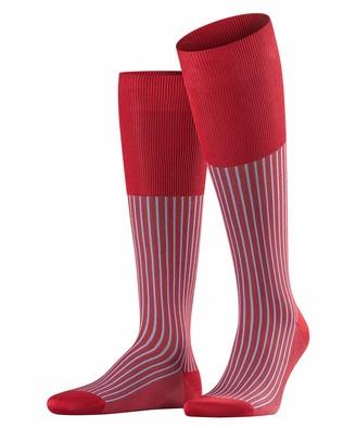 Falke Men Oxford Stripe Knee-Highs - Cotton Blend