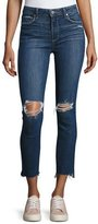 Paige Hoxton Stagger-Hem Ankle Peg Jeans, Deedee