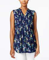 Charter Club Print Sleeveless Shirt, Only at Macy's