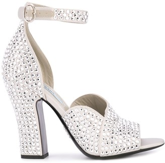 Prada stud embellished sandals