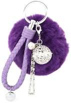 Suppion Bell Fur Ball Keychain Cute Fluffy Ball for women Car Key Handbag Charm