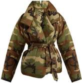 Norma Kamali Camouflage-print sleeping bag coat