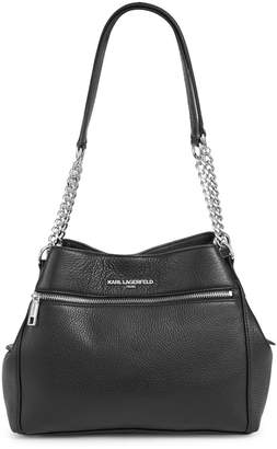 Karl Lagerfeld Paris Bouquet Pebbled Leather Hobo Bag