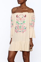Umgee USA Embroidered Boho Peasant Dress
