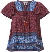 Sea tassel strings floral blouse