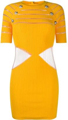 Balmain Cut-Out Fitted Dress