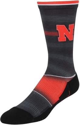 E.m. Unbranded Men's Rock Socks Nebraska Cornhuskers Hyper Stripe Socks
