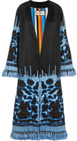 Etro Tasseled Embroidered Silk-twill Jacket - Blue