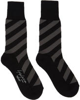 Yohji Yamamoto Grey and Black Slant Socks