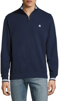 Brooks Brothers French Terry Half Zip Sweater