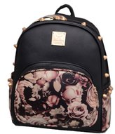 Donalworld Girl Floralchool Bag Travel Cute PU Leather Mini Backpack