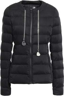 Love Moschino Chain-trimmed Quilted Shell Jacket
