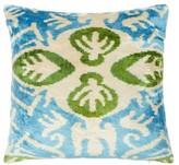 Les Ottomans - Ottoman Silk-velvet Cushion - Blue Multi