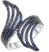 KIVN Jewelry Fashion Rings-KIVN Fashion jewelry Brilliant CZ Cubic Zirconia Rings for Women(Sapphire)