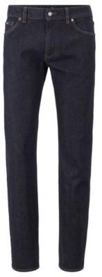 HUGO BOSS Regular Fit Indigo Jeans In Italian Stretch Denim - Dark Blue