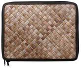 Fair Trade Natural Fiber 13 Inch Laptop Case from Bali, 'Uluwatu Pandan in Black'