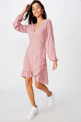 Supre Drew Long Sleeve Wrap Dress