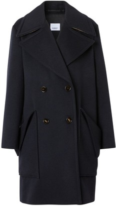Burberry Pocket Detail Cashmere Pea Coat