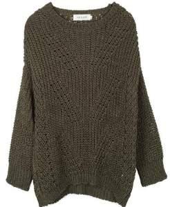 The Voewood - Khaki Knit Jumper - XL - Grey