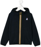 K Way Kids hooded logo print jacket