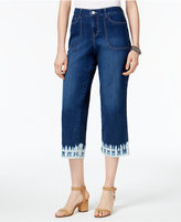 Style&Co. Style & Co Dyed-Hem Capri Jeans, Created for Macy's